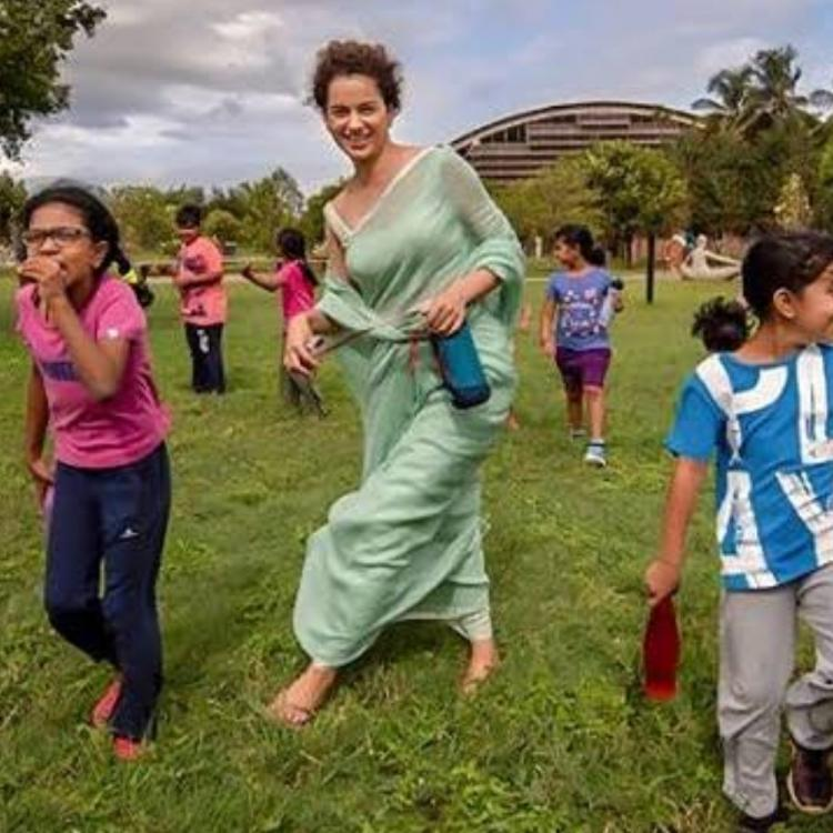 Children's Day 2019: Kangana Ranaut keeps her inner child alive as she enjoys the company of kids; See Pic