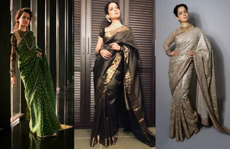 Celebrity Style,KANGANA RANAUT,ethnic wear,Saree drapes