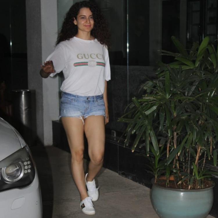 PHOTOS: Kangana Ranaut flaunts an effortless casual look as she comes out of a dubbing studio