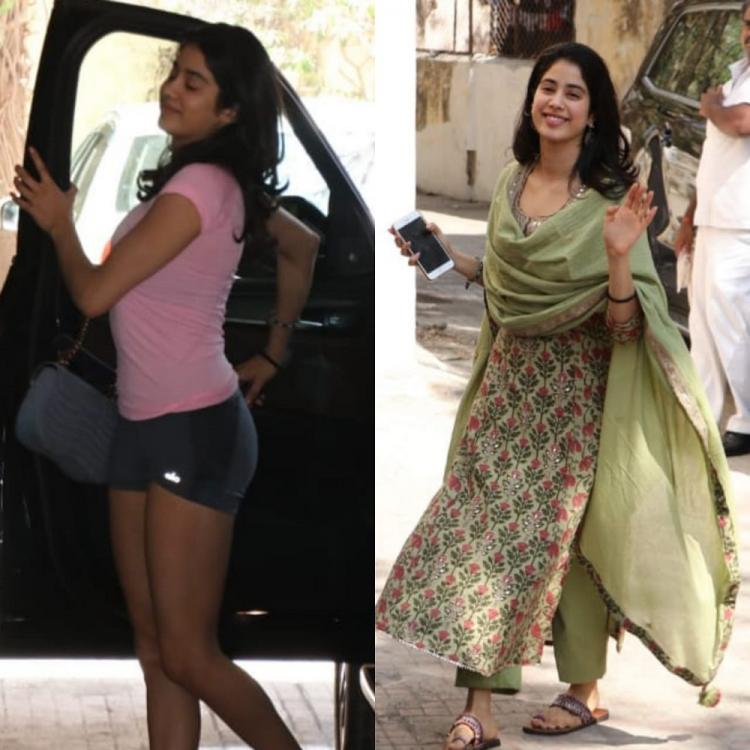 CHECK OUT Janhvi Kapoor's 'Pooh bani Paarvati' avatar as she enters the gym in shorts & comes out in a suit