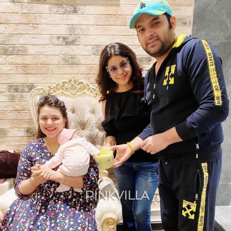 Kapil Sharma and Ginni Chatrath cast their baby girl Anayra Sharma's hand & feet impressions; View Pic