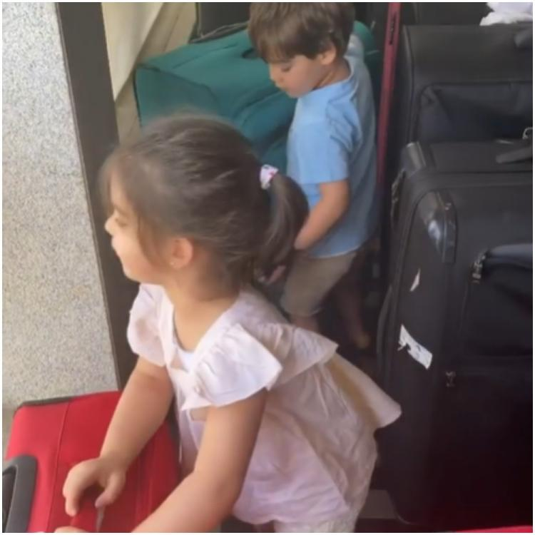Karan Johar's kids Yash and Roohi gearing up to head to the airport is all of us post the lockdown ends; WATCH