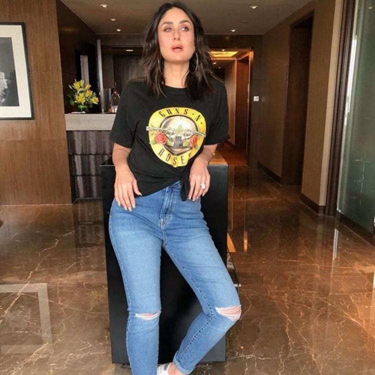Kareena Kapoor Khan slays in a basic black tee and ripped jeans & proves she's a born fashionista; See PHOTOS
