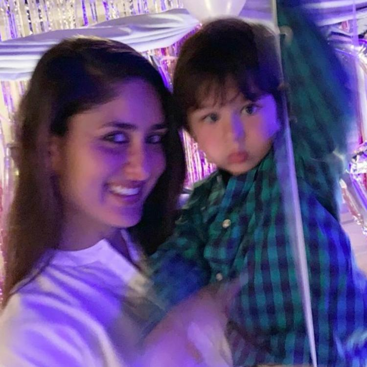 Kareena Kapoor Khan & Taimur Ali Khan's adorable photo from her birthday bash is too cute to handle