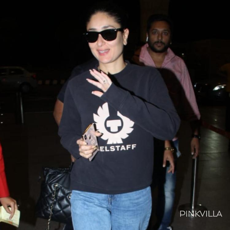 Kareena Kapoor Khan opts for a cool & casual look as she gets papped at the airport; See Pics
