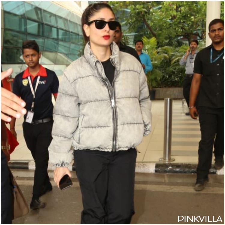 Kareena Kapoor Khan rocks a red lipstick with casual airport look as she returns post Laal Singh Chaddha shoot