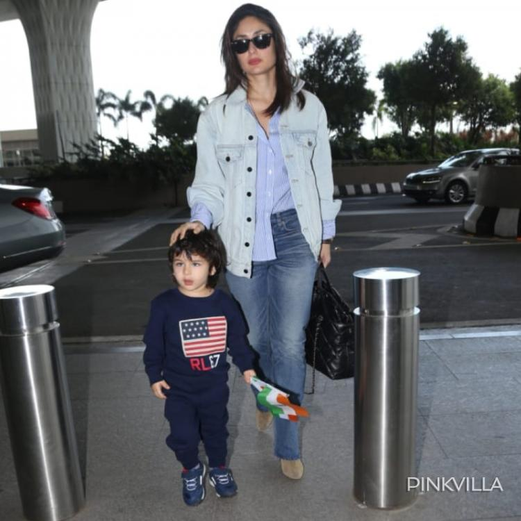 Kareena Kapoor Khan & Taimur Ali Khan stun in shades of blue as they get papped at the airport; See Pics