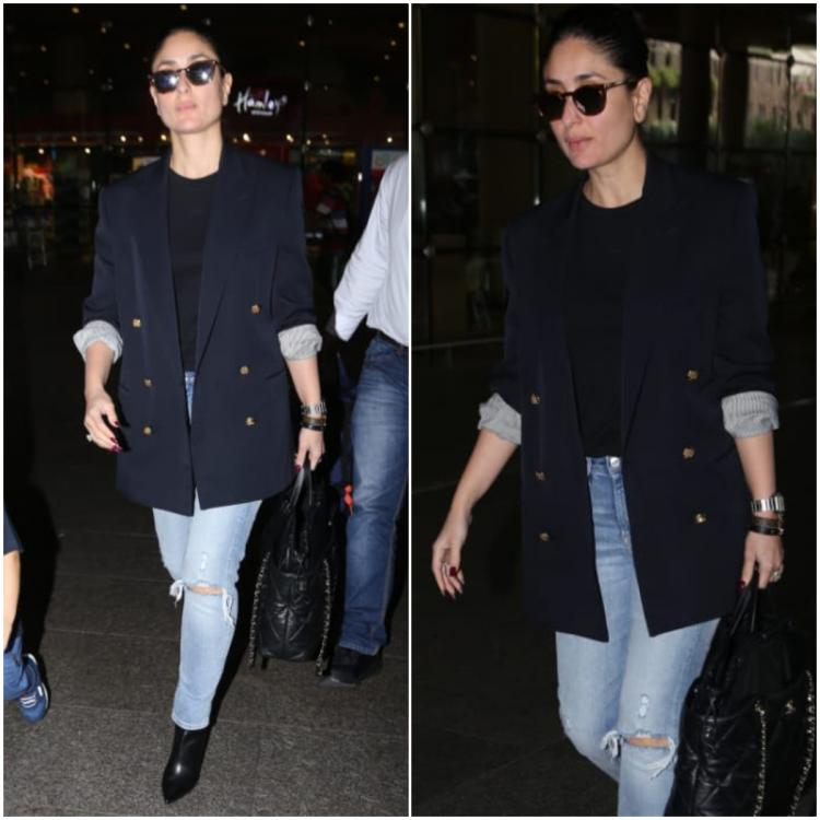 Kareena Kapoor sports smart casuals at the airport & it's easy for you to recreate for office tomorrow