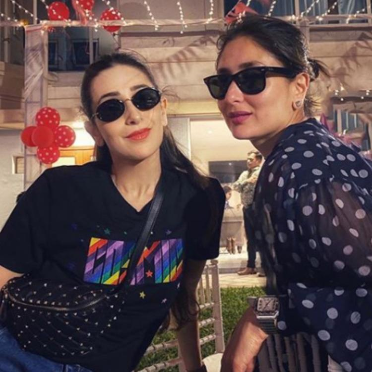 Kareena Kapoor Khan & Karisma Kapoor are all smiles as they pose for a happy picture on the 'special evening'