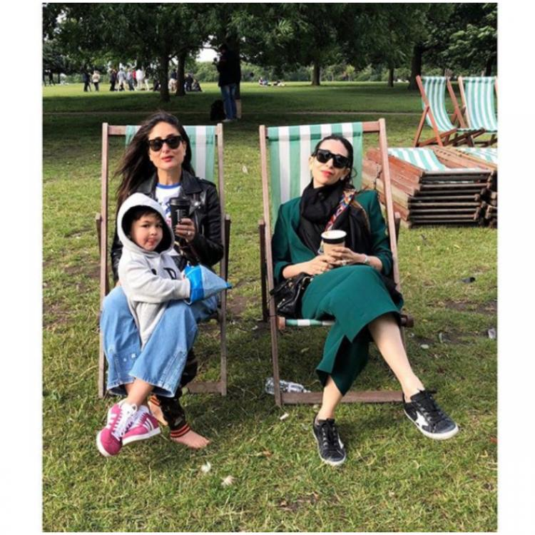 Kareena Kapoor Khan and sister Karisma Kapoor spend a lazy Saturday with Taimur Ali Khan; view PIC