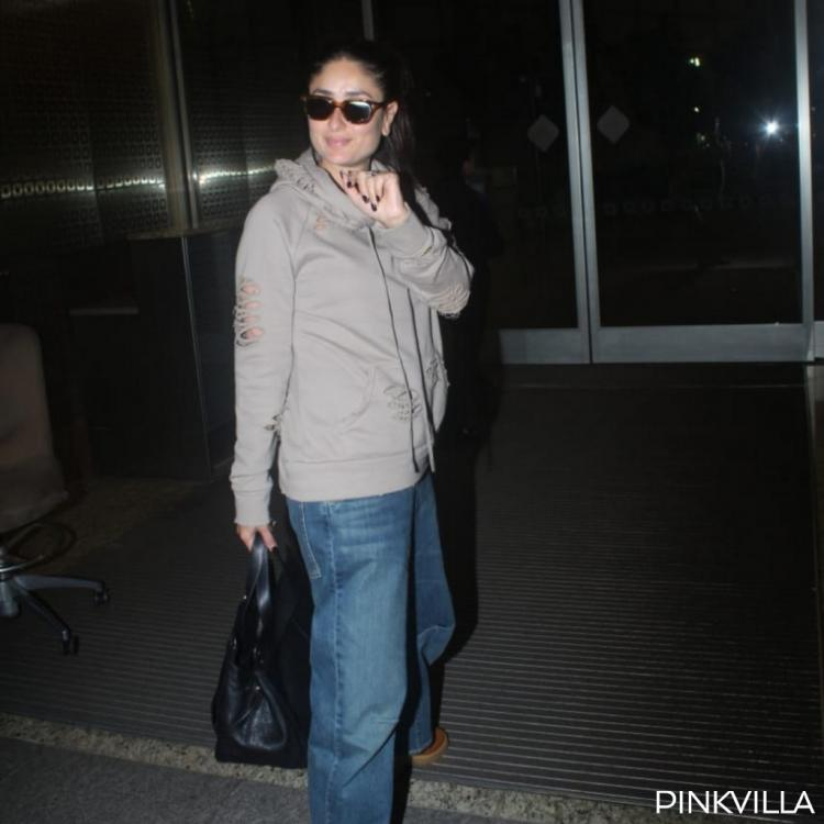 PHOTOS: Kareena Kapoor Khan's smile is just enough to make up for her tired face as she heads back to London