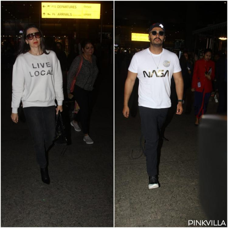 Airport Diaries: Arjun Kapoor and Karisma Kapoor opt for casual airport look as they return to the city