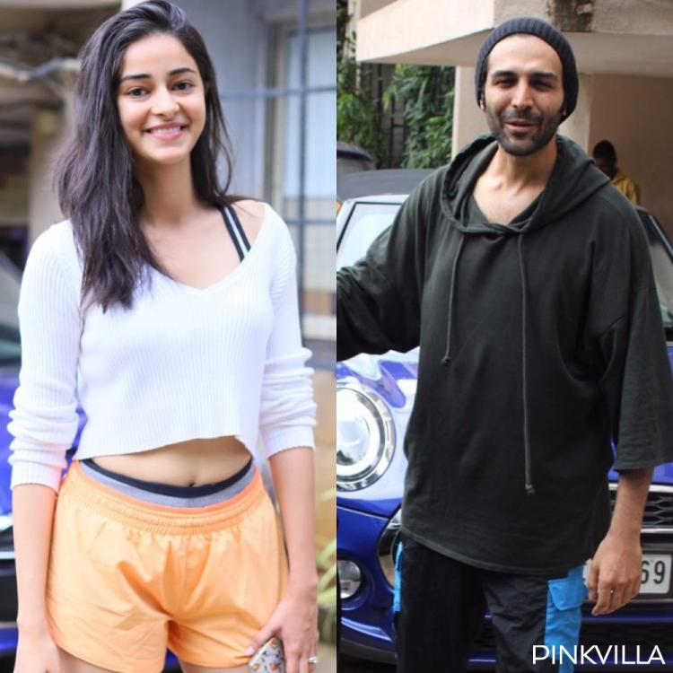 PHOTOS: Pati Patni Aur Woh's Ananya Panday & Kartik Aaryan are all smiles as they exit their dance rehearsals