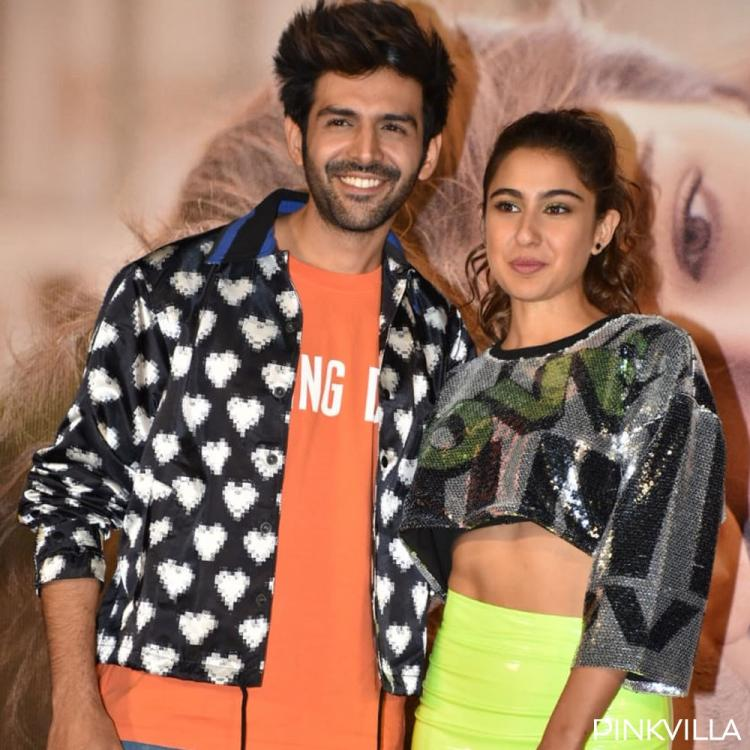 PHOTOS: Sara Ali Khan and Kartik Aaryan make a stylish pair at Love Aaj Kal's trailer launch