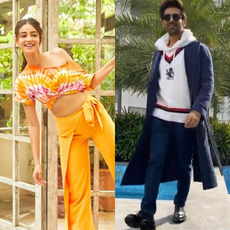 Kartik Aaryan shows off his cool swag and gets captured by Pati Patni Aur Woh co star Ananya Panday; Watch