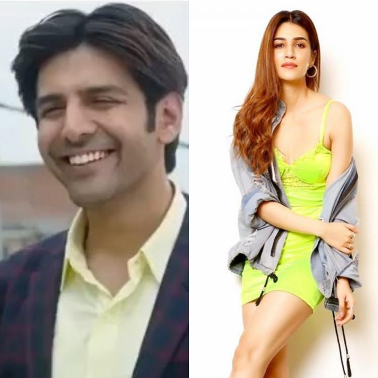 Kartik Aaryan asks his fans to tag a friend who has squeaky laughter; Check out Kriti Sanon's hilarious reply