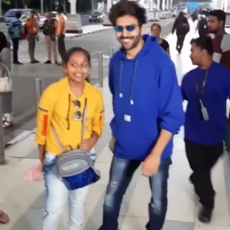 Kartik Aaryan gets swamped by fans as he leaves for Lucknow to shoot for Bhoot Bhulaiyaa 2; Watch VIDEO