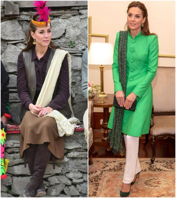 Kate Middleton opts picks out demure but contrasting looks in Pakistan; Which of the two do you prefer?