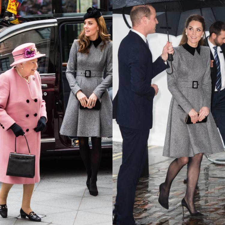 Kate Middleton recycles her old Catherine Walker coat as she steps out with Prince William in London