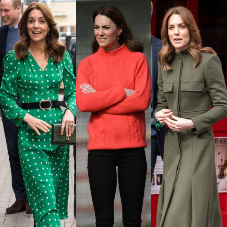 Kate Middleton contrasts her cosy green looks with a comfortable coral sweater; Yay or Nay?