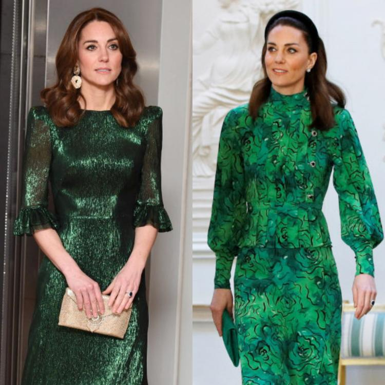 Is Kate Middleton having a Christmas hangover? Duchess of Cambridge's green ensembles leave us wondering