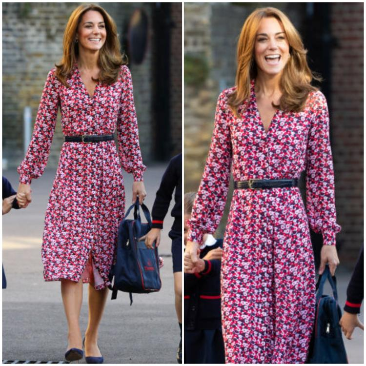 Kate Middleton proves that repeating outfits is COOL as she dons a floral Michael Kors dress