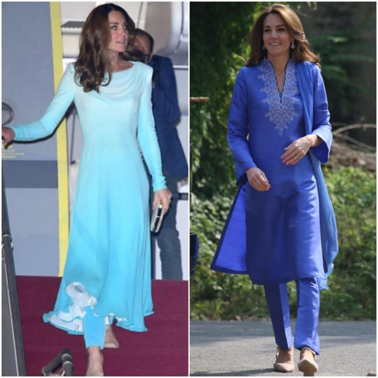 Kate Middleton's vibrant blue ethnic outfits from her Pakistan Royal tour are perfect for this Diwali