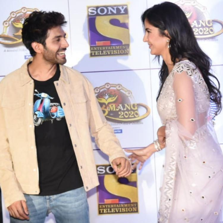 Katrina Kaif & Kartik Aaryan share a cute moment at an event and fans can't wait to see them in a film; WATCH