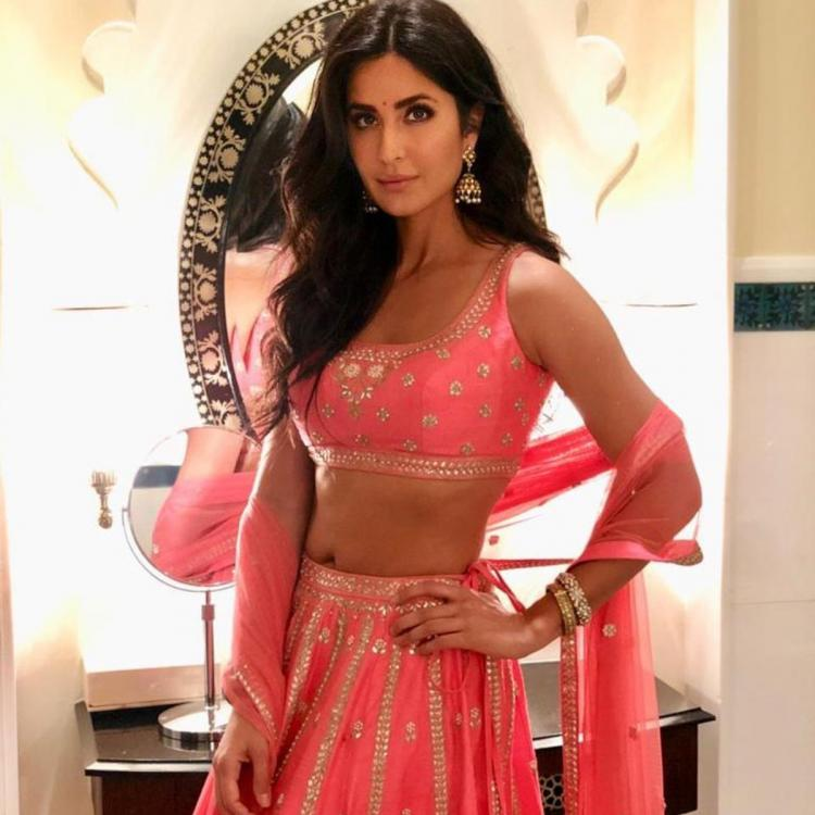Katrina Kaif is blushing in pink wearing Anita Dongre for a wedding function; Yay or Nay?