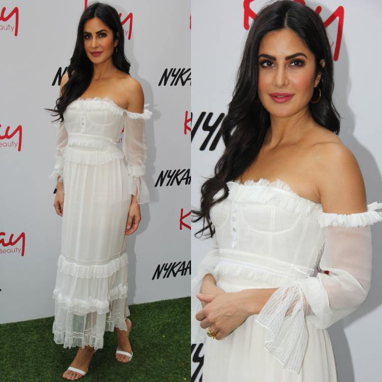 Katrina Kaif makes heads turn in a flawless white dress as she stepped out for an event yesterday