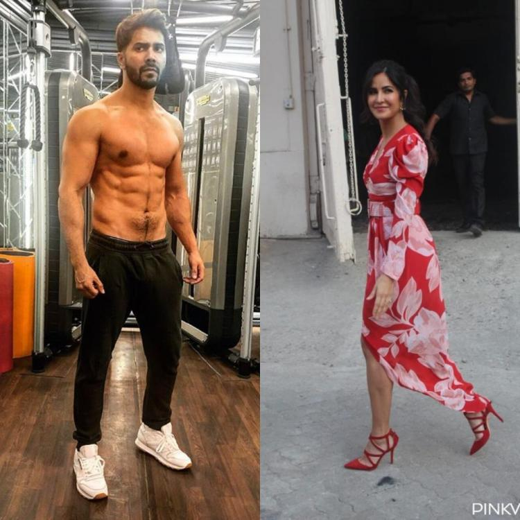 Katrina Kaif trolls Varun Dhawan as he poses shirtless in a throwback pic