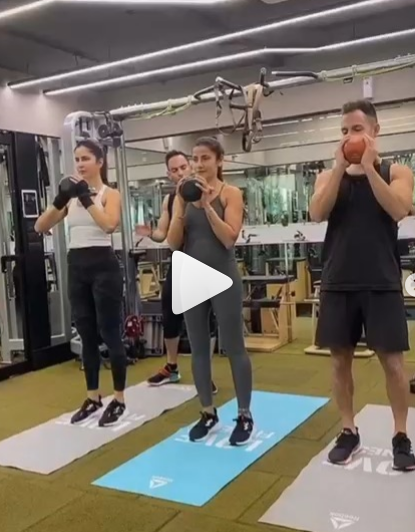 Katrina Kaif is unstoppable as she workouts with her trainer in THIS video; Shraddha Kapoor is in awe