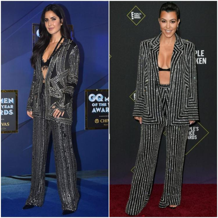 Fashion Faceoff: Katrina Kaif or Kourtney Kardashian: Who wore the bedazzled silver and black pantsuit better?