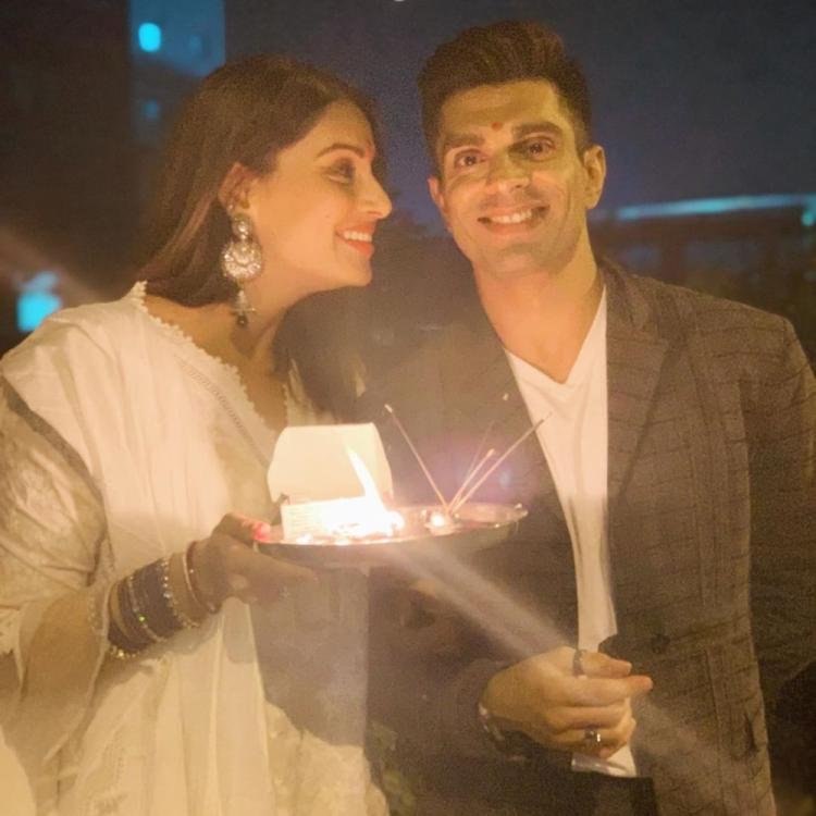 Bipasha Basu shares an adorable video with Karan Singh Grover as they celebrate Karwa Chauth together; watch