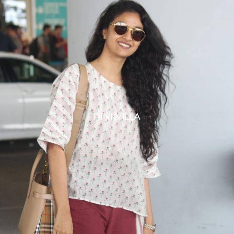 PHOTOS: Keerthy Suresh makes a perfect girl next door with her no make up look at the airport