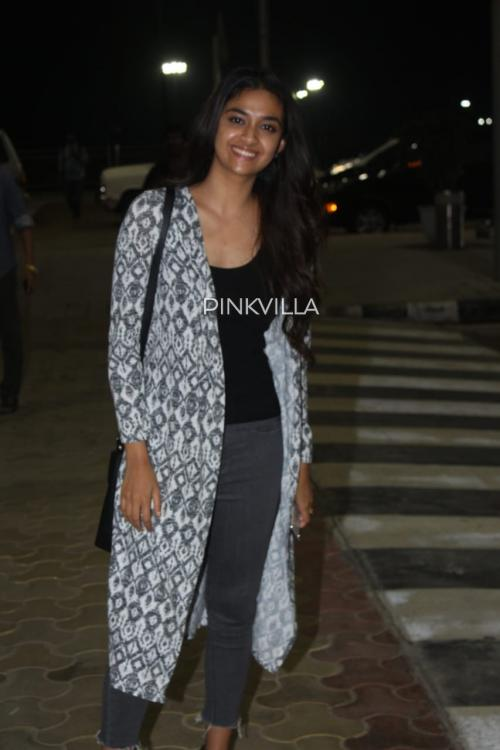 Airport Diaries: Keerthy Suresh rocks the 'no makeup' look as she gets clicked in her best casual appearance