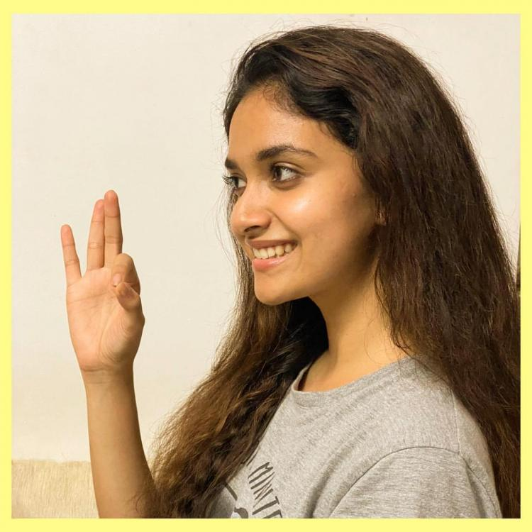 Keerthy Suresh shares her no makeup look amid lockdown as she achieves THIS milestone