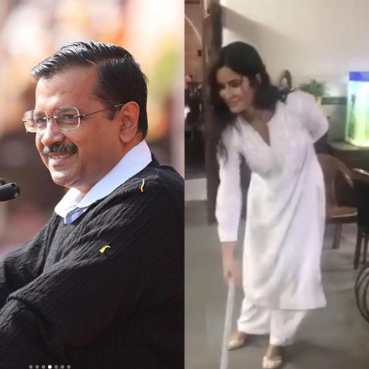 Delhi Elections 2020: Amidst AAP's landslide victory, Katrina Kaif's video of her sweeping goes viral; WATCH