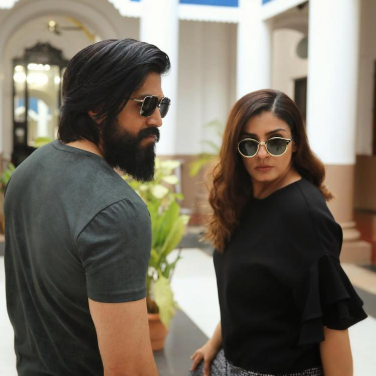 KGF Chapter 2: Yash and Raveena Tandon's swag and bossy avatar from the sets will leave you amazed