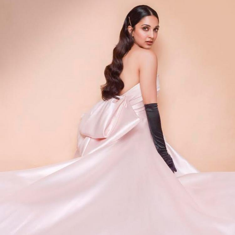 PHOTOS: Kiara Advani gives us the modern princess vibes as she stuns in a light pink gown with black gloves