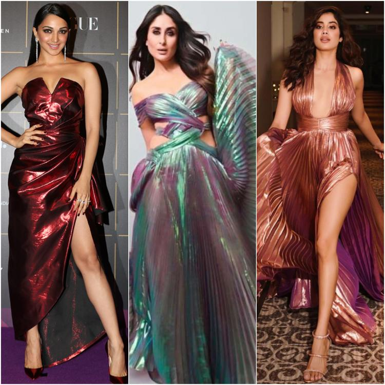 Kiara Advani, Kareena Kapoor Khan, Janhvi Kapoor & more show celebrity approved ways to wear metallic outfits