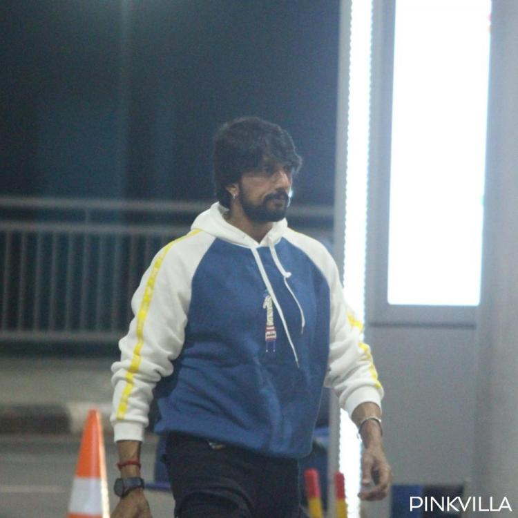 PHOTOS: Kichcha Sudeep keeps it simple and casual as he gets snapped at the airport premises