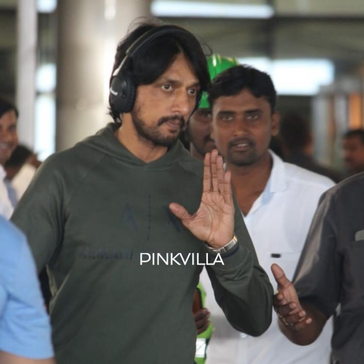 PHOTOS: Kiccha Sudeep makes a stylish appearance in casuals at the airport