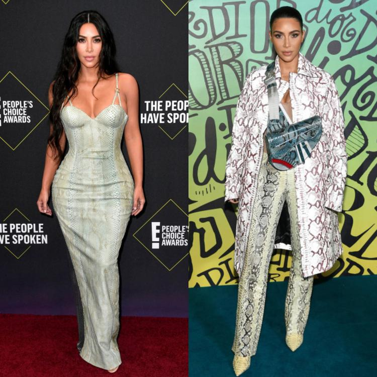 Kim Kardashian West gives lessons on how to style snakeskin in two stylish but effective ways