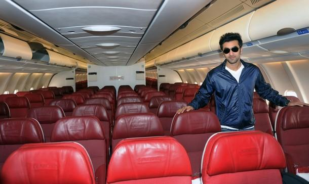 Ranbir Kapoor Inaugurates A Kingfisher Airlines Flight