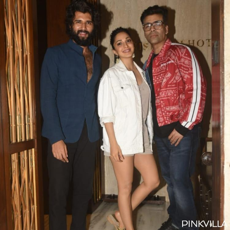 PHOTOS: Vijay Deverakonda, Kiara Advani & Karan Johar get snapped post visiting Manish Malhotra's residence