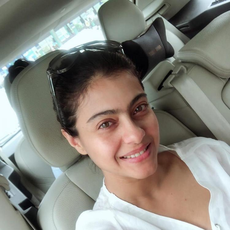 Kajol looks beyond beautiful in this no makeup selfie; Check it out