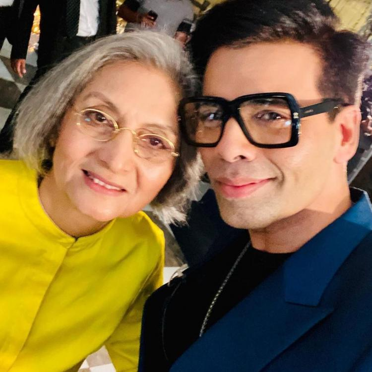 Karan Johar clicks a selfie with Ma Anand Sheela and it is raising eyebrows on social media