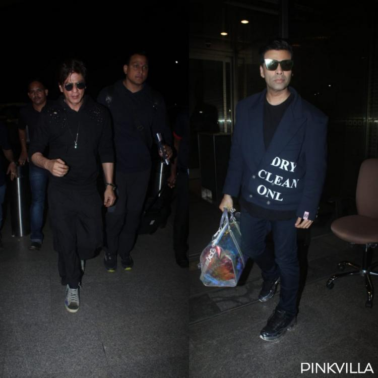 PHOTOS: Shah Rukh Khan and Karan Johar twin in black as they head out for Indian Film Festival of Melbourne
