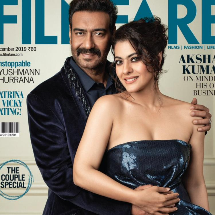 PHOTO: Ajay Devgn and Kajol shell out major couple goals as they stun together on a magazine cover